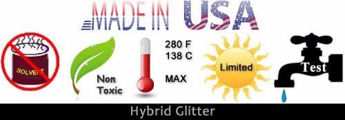 Hybrid Glitter Properties